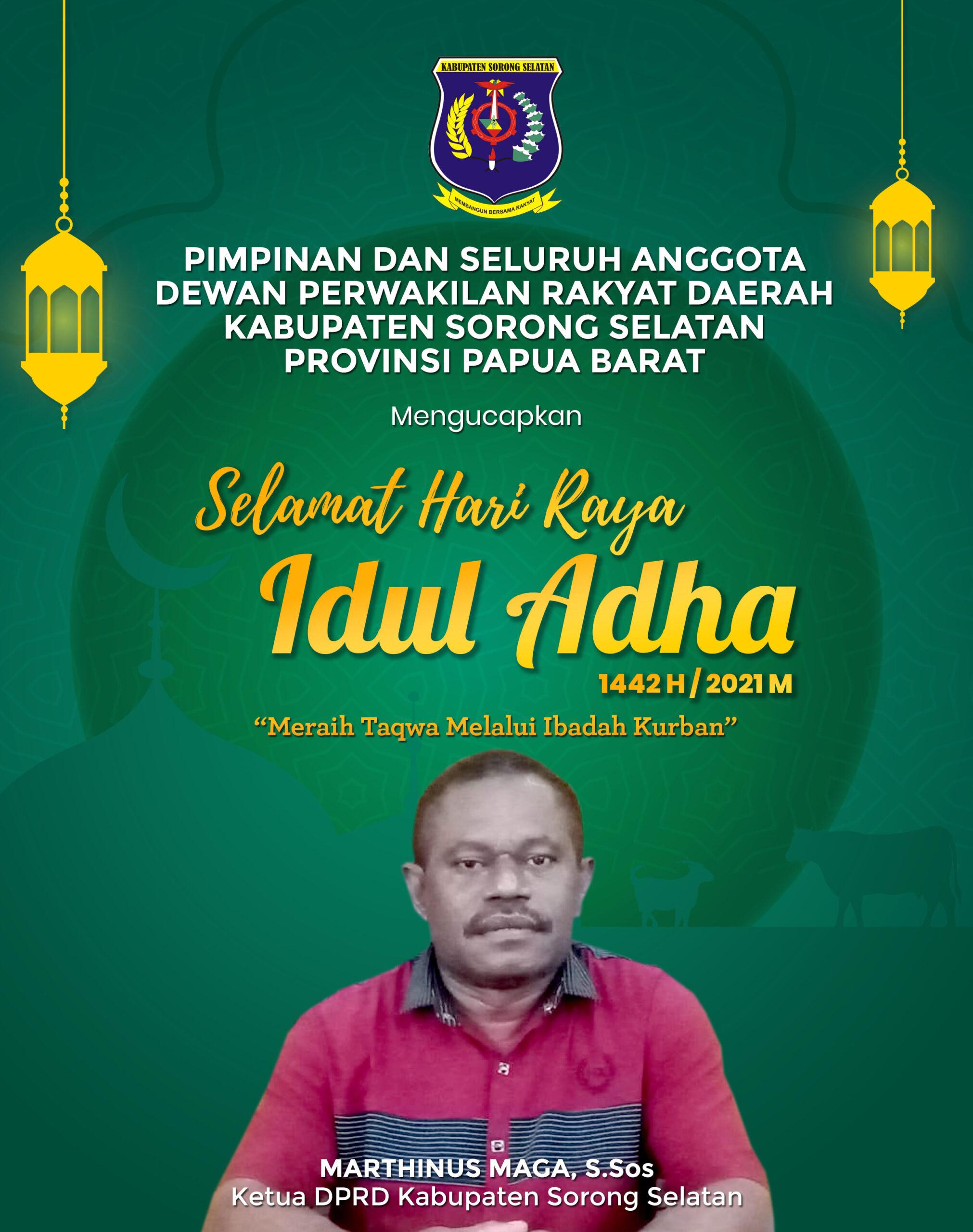 Ketua DPRD Kabupaten Sorong Selatan-ADHA 2021